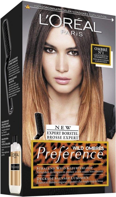 L'Oréal Paris Préférence Wild Ombrés Ombré №1 Haarverf -  lichtbruin tot donkerbruin