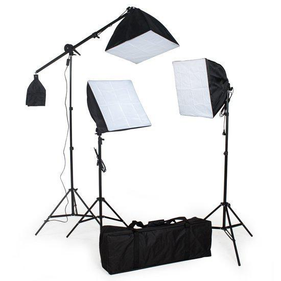 tectake studiolampen set 3x fotolamp fotografie softbox 400894. Black Bedroom Furniture Sets. Home Design Ideas