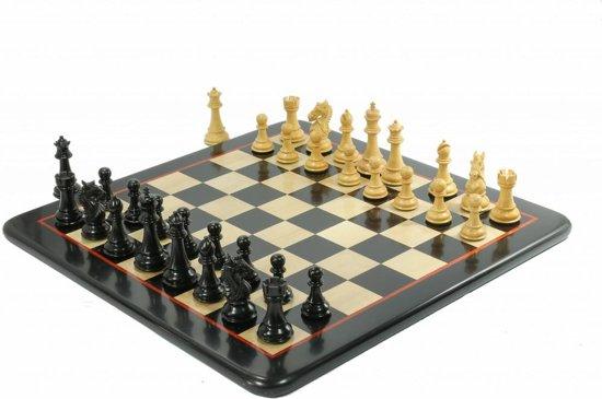 Afbeelding van het spel Staunton Koning's Bruid Ebbenhout Schaakset, met prachtig schaakbord