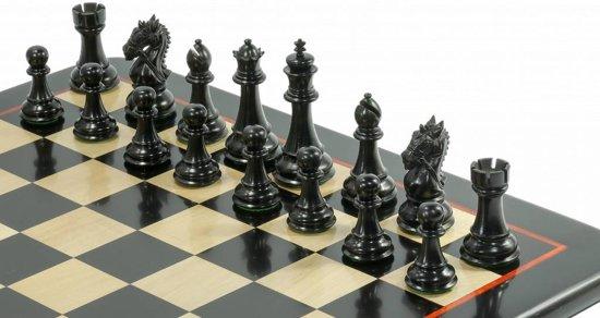 Thumbnail van een extra afbeelding van het spel Staunton Koning's Bruid Ebbenhout Schaakset, met prachtig schaakbord