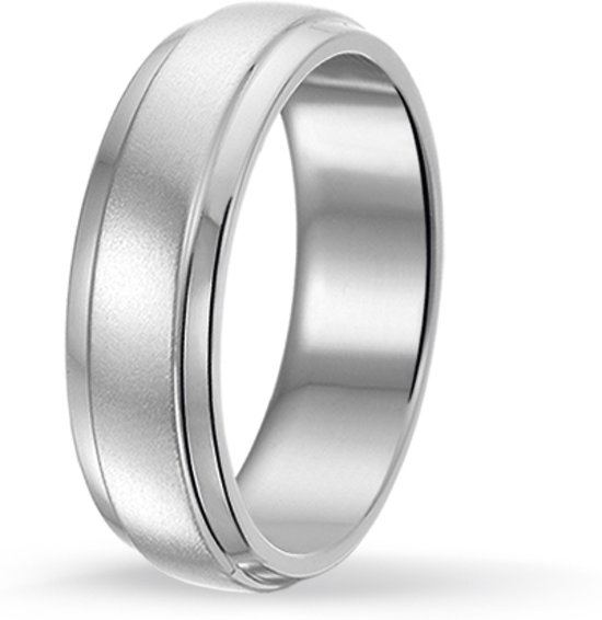 Ring in edelstaal