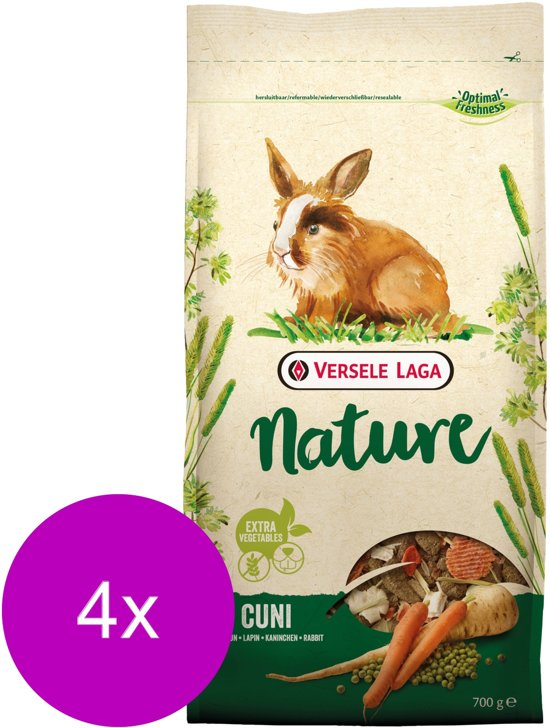 Versele-Laga Nature Cuni - Konijnenvoer - 4 x 700 g