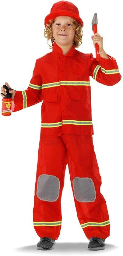 Afbeelding van Brandweerman pak brandweer - Carnavalskleding - Maat 103-110 - 3-5 jaar speelgoed