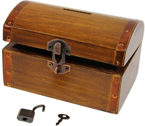 Super bol.com | Spaarpot antiek houten kistje, Merkloos | Speelgoed PG-13