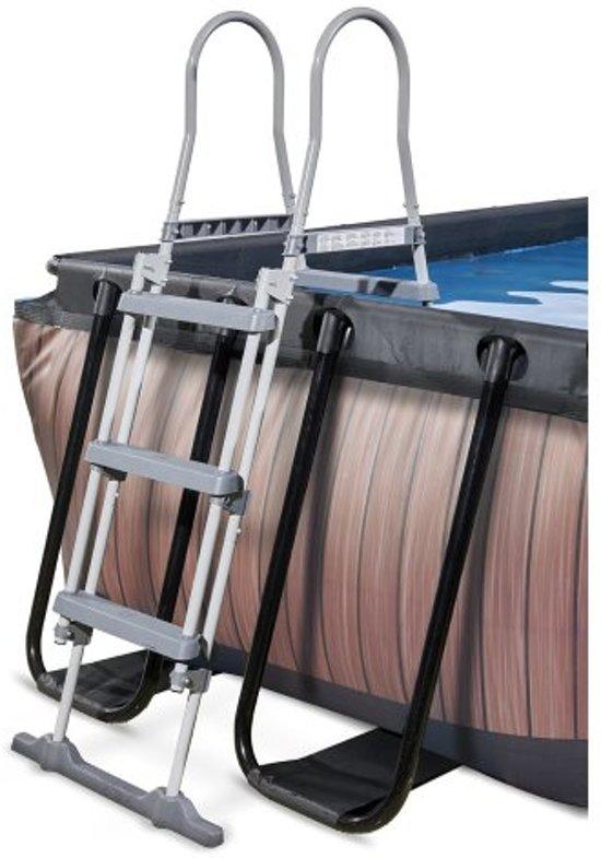 EXIT zwembad Wood 400x200cm met filterpomp - bruin