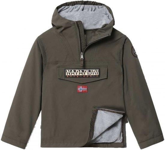lekker goedkoop koop online jongen bol.com   Napapijri Jongens Anorak Winterjas - groen - Maat 176