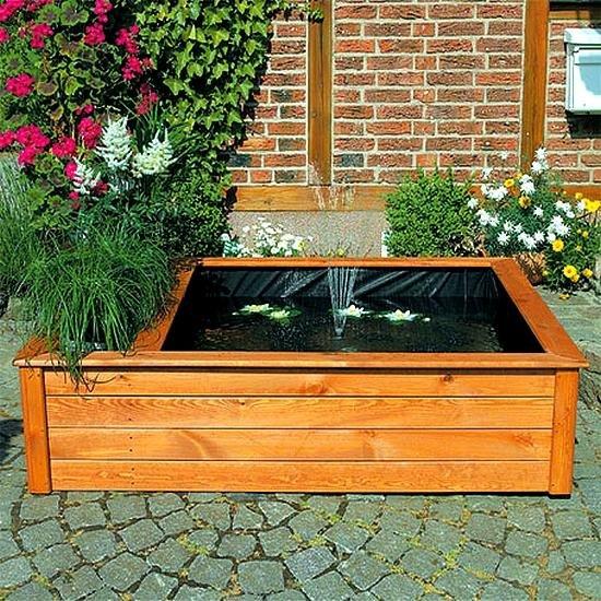 Verhoogde vijverbak met fontein en plantenbak for Tuinvijver maken