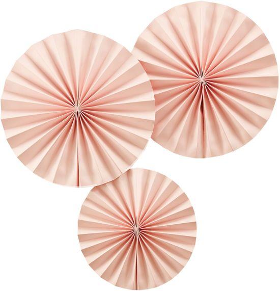 Fan decoratie - Pastel Perfection - Roze (3 stuks) Valentinaa