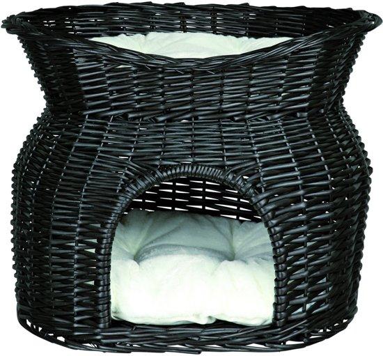 Trixie kattenmand wilg zwart 54x43x37 cm