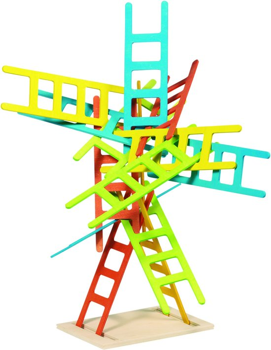 Afbeelding van het spel Evenwichtsspel: LADDER H18cm, 21-delig, hout