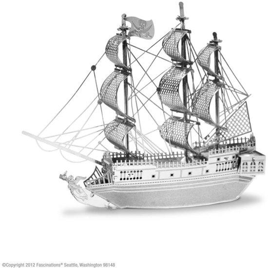 Metal Earth Modelbouw 3D Piratenschip - Metaal
