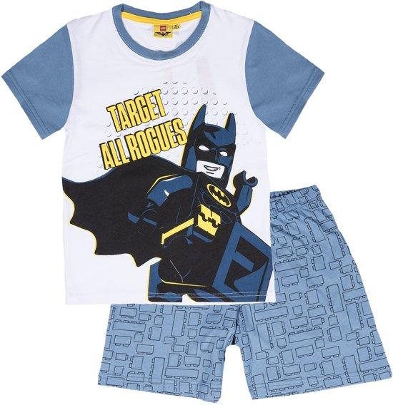 LEGO-Batman-Pyjama-met-korte-mouw-wit-maat-104