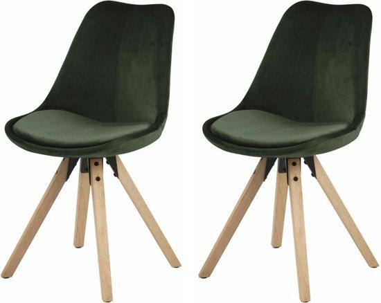 Fluwelen Stoel Groen : Bol.com 24designs set 2 stoelen dex zitting bosgroen fluweel