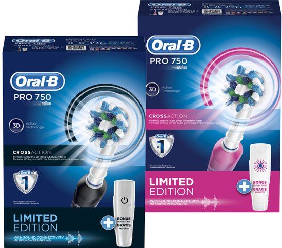 Oral-B Pro Series Cross Action 750 DUO-SET Black & Beauty - 2x Elektrische Tandenborstel