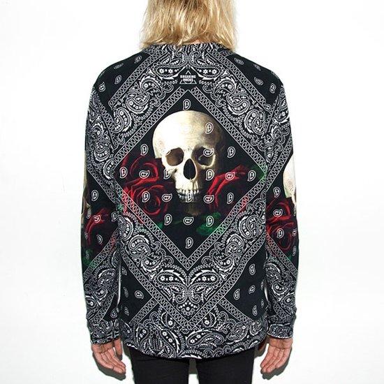 Rocks Bandana Skull TruiBedrukte S Roses Sweater Breaking bYyf67g