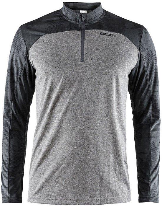 Craft Eaze Ls Tee Sportshirt Heren - Grey Melange/Black Mel