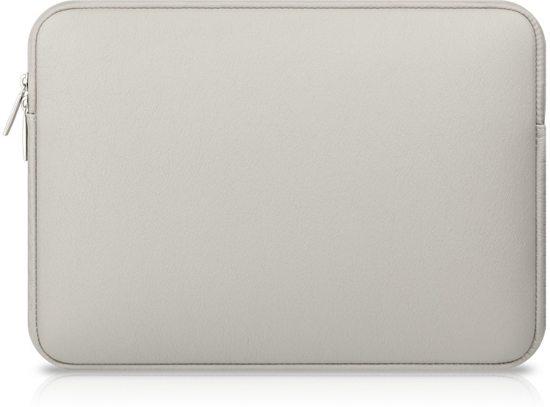 Luxe Laptophoes met Leerlook | 15 inch | Grijs | Laptop Accessoires