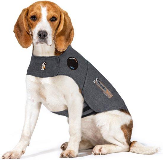 Thundershirt Antistress Vest - Natuurlijk middel tegen vuurwerkangst - Hond - Grijs - M - 53-64 cm