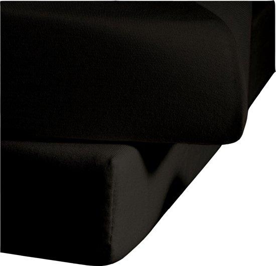 SENZA DONNA 100% Katoen Jersey 180 GSM (GRAMS) Topper / Topdek Hoeslaken 180X210+20 cm ZWART