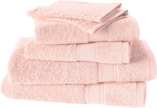De Witte Lietaer  Hélène  –  Washandjes, badhanddoeken & douchelakens -  Licht roze - Set van 6
