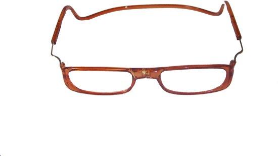 6ac23ff9174468 Magneetbril Bruin XL +1.00