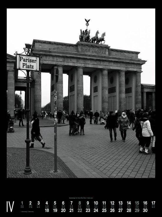 Berlijn Berlin zwart wit Posterkalender 2018
