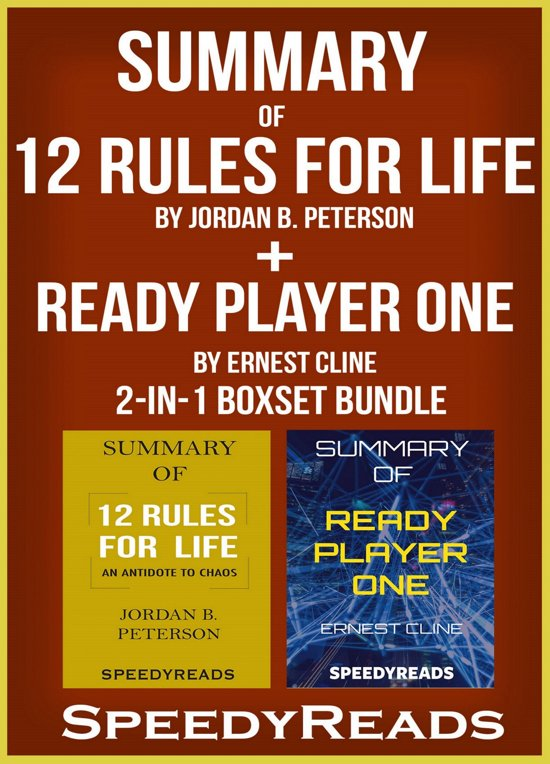 Boek cover Summary of 12 Rules for Life: An Antidote to Chaos by Jordan B. Peterson + Summary of Ready Player One by Ernest Cline 2-in-1 Boxset Bundle van Speedyreads (Onbekend)