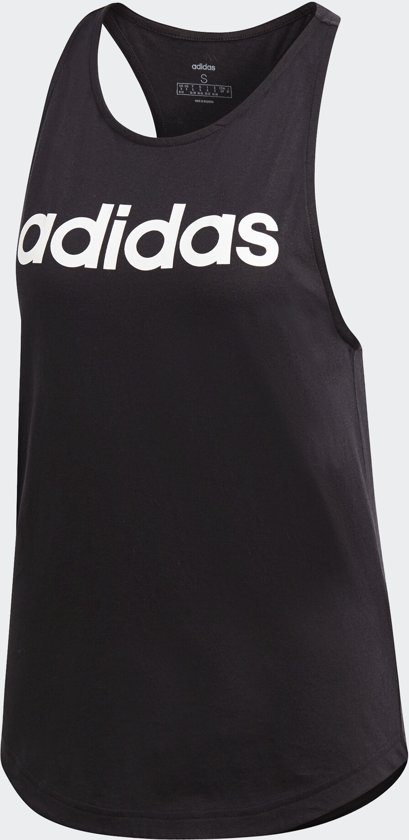 adidas W Essentials Linear Loose Tank Dames Sporttop BlackWhite Maat L