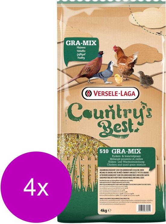 Versele-Laga Country`s Best Gra-Mix Kuiken- & Kwartelgraan - Kippenvoer - 4 x 4 kg