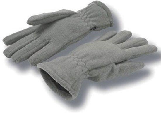 Grijze fleece handschoenen voor volwassenen S/M