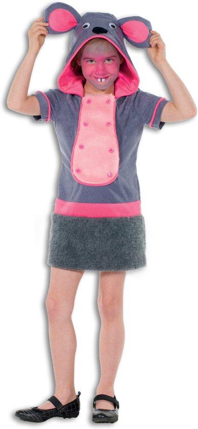Muis & Rat Kostuum | Opvallende Grijze Muis | Meisje | Maat 116 | Carnaval kostuum | Verkleedkleding