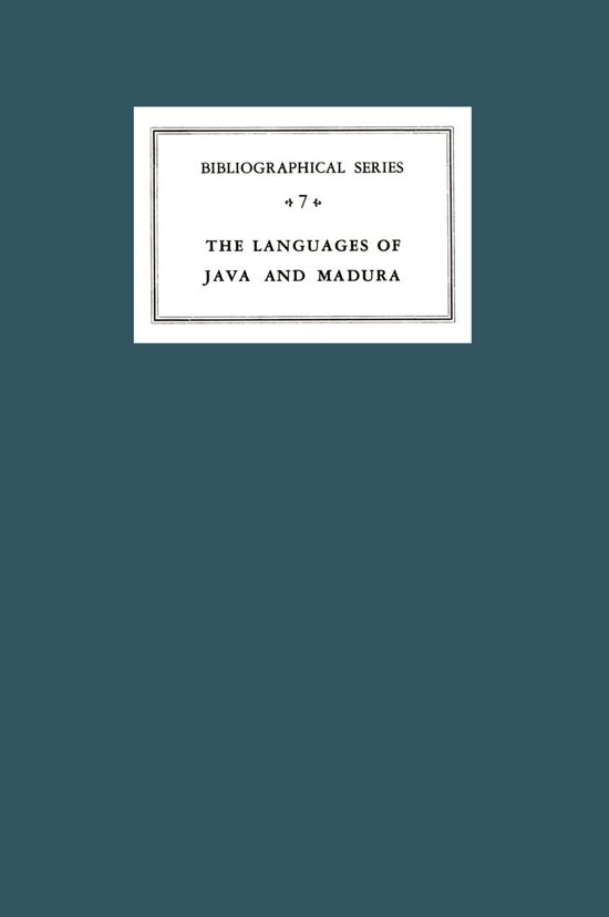 A Critical Survey of Studies on the Languages of Java and Madura