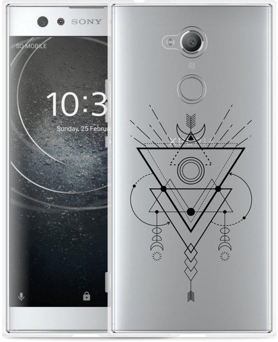 Sony Xperia XA2 Ultra Hoesje Abstract Moon Black