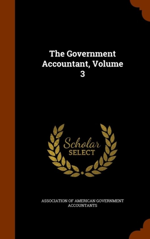 The Government Accountant, Volume 3