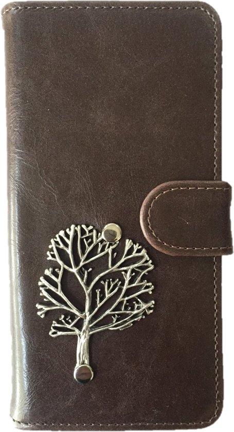 MP Case® PU leder Mystieke desing Mocca Cover voor Sony Experia XA Boom Bedel book case in Aalsum