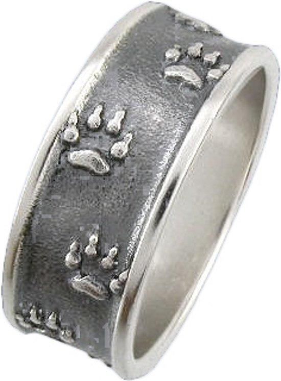 Zilveren wolvensporen ring 18mm