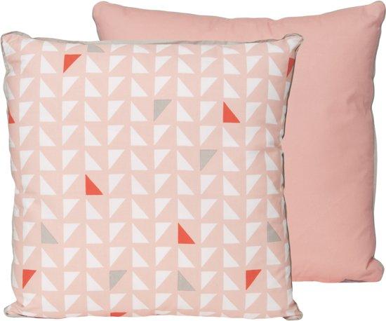 Present Time Triangles - Sierkussen - 45x45 cm - Roze