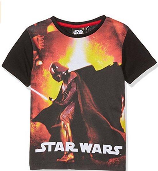 Star Wars shirt maat 128 zwart
