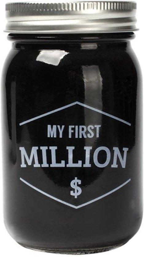 """Glazen spaarpot """"My first Million"""""""