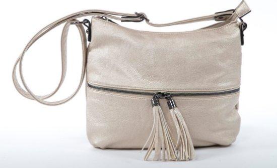 8ea0508e17c bol.com | Flora & Co Vintage Crossbody Dames Schouder Tas - Goud -H9046