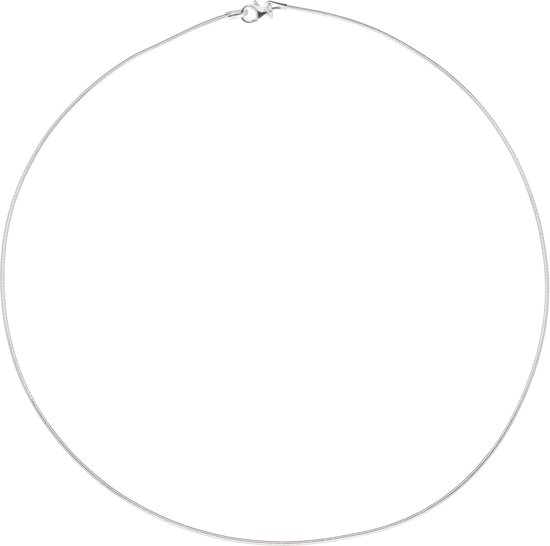 Classics&More ketting - zilver - omega - rond 1.0 mm - 43 cm