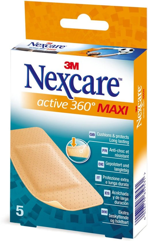 Nexcare™ Active 360° pleisters, 5 pleisters, 50 mm x 101 mm, N1005NSD