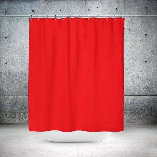 Roomture - douchegordijn - Red wall - 180 x 200