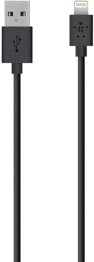 Belkin MIXIT Apple Lightning naar USB Kabel - 1.2 meter- Zwart
