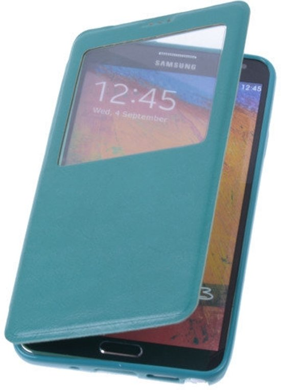 View Case Groen Samsung Galaxy S4 I9500 - Book Case Cover Wallet Hoesje