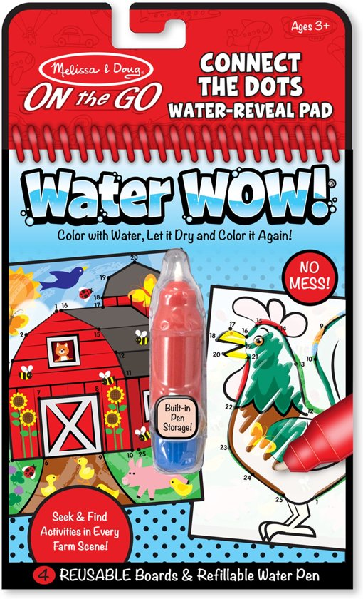 Melissa & Doug - Water Wow! - Farm Connect the Dots