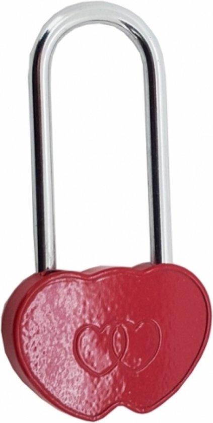 Hart hangslot 9 cm - Valentijn liefdes slot