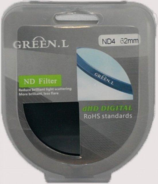 Green.L Gradual ND4 Grijsverloopfilter  62 mm