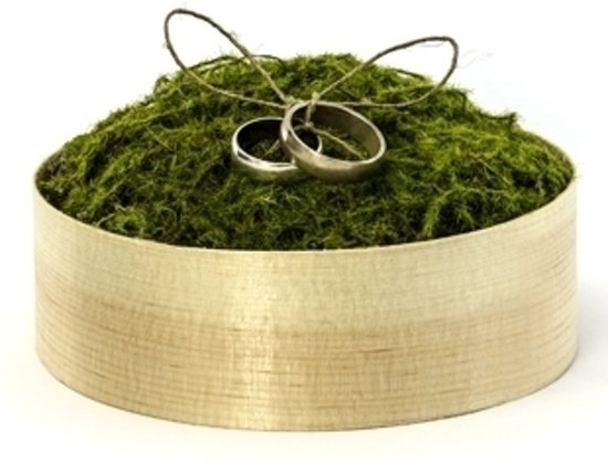 Onwijs bol.com   Bruiloft ringen doosje met mos - Huwelijk / bruiloft JJ-92