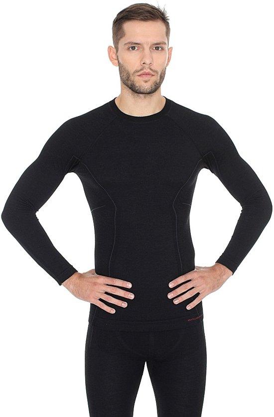heren Merino shirt Seamless Met Lange Mouw Wol Brubeck Wool Thermo Ondershirt Active Heren m zwart g4Y7C